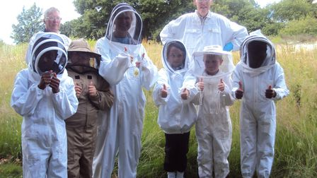 Children enjoy a visit to the ActivLives apiary. Picture: ACTIVLIVES