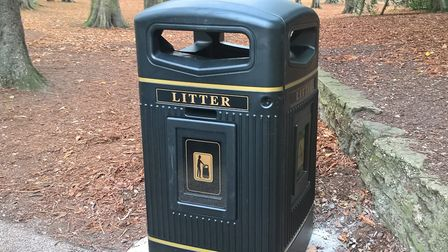 One of the new bins in Christchurch Park. Picture: IPSWICH COUNCIL