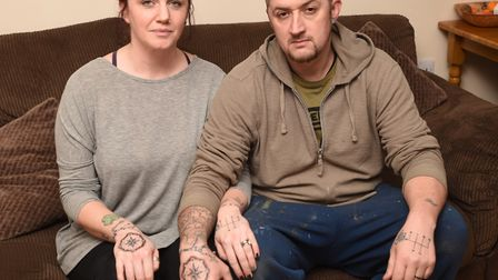 Gareth and Michelle Keeble, from Great Blakenham, were watching TV at home in the early hours of Sun