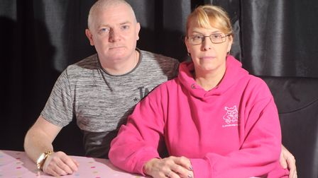 Lisa and Michael Read are concerned after men tried to break in and steal their cars. Picture: SARA