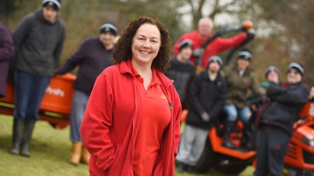 Poppies Care Farm leader Liz Marley. Picture: GREGG BROWN