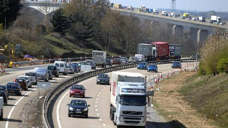 Traffic on the Orwell Bridge. Stock image. Picture: ARCHANT