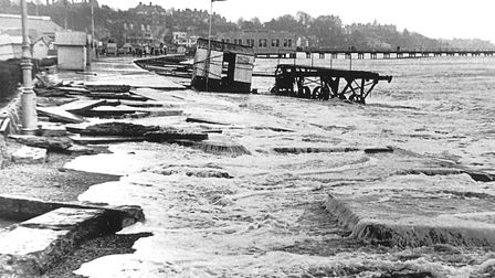 Felixstowe seafront in the 1953 floods. Picture: ARCHANT ARCHIVE