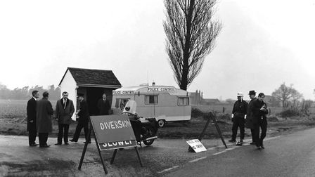 Police at the scene where the body was found. Picture: ARCHANT ARCHIVE