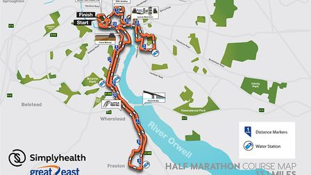 Great East Run 2017 course map