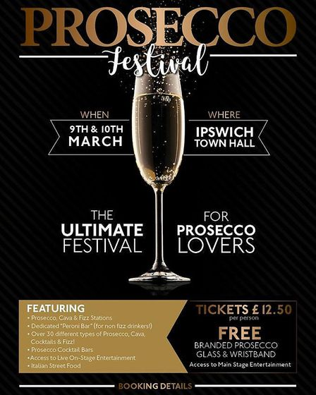 The dates have been set for the return of the Prosecco Festival to Ipswich. Picture: MEGAN FOWLER/PR