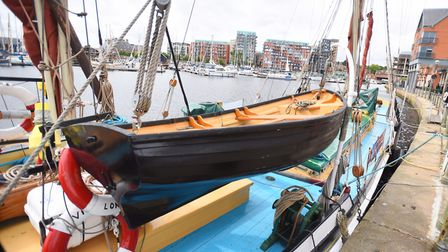 The Victor is a large sailing boat permanently docked at Ipswich Waterfront, and hosts the Folk on a