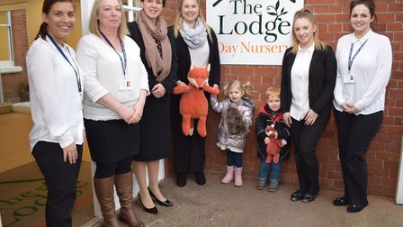 Staff and children at The Lodge Day Nursery in Ivry Street, Ipswich. Picture: THE LODGE DAY NURSERY