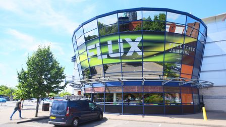 Opening day at Flux Freestyle trampoline centre in Cardinal Park, Ipswich, in July 2016. Picture: GR