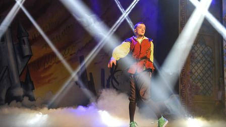 George Sampson in Enchanted Entertainment's Ipswich Regent panto, Jack and The Beanstalk. Photo: Luc