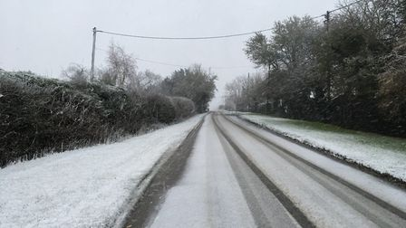 Snow near Saffron Walden in Essex this morning. Picture: WILL LODGE