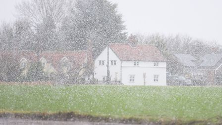 Residents in west Suffolk were treated to wintry scenes. Picture: GREGG BROWN
