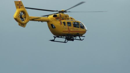 An air ambulance has been called to an emergency in Shotley Gate. Picture: ARCHANT LIBRARY