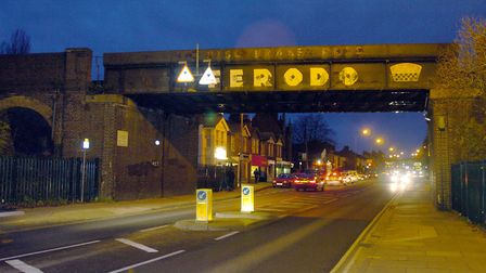 Norwich Road will have temporary lights for six weeks near the railway bridge. Picture: ARCHANT