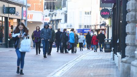 Boxing Day shoppers in Tavern Street, Ipswich. Picture: GREGG BROWN