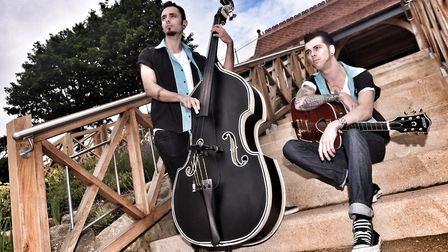 Josh Locke (guitar) and Murray Collins (double bass) of J.S. & The Lockerbillies. Picture: LUCY TAYL
