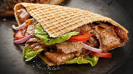 A kebab made by German Doner Kebabs, which hopes to open in Ipswich next month. Picture: GERMAN DONE