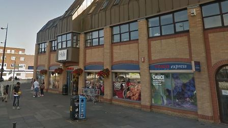 The Tesco Express store in St Matthew's Street, Ipswich, where a fight is alleged to have happened.