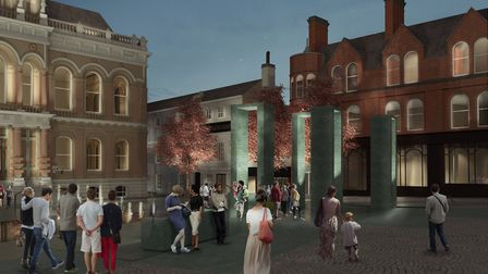 How the Cornhill is set to look at night. Picture: PROVIDED BY IPSWICH VISION