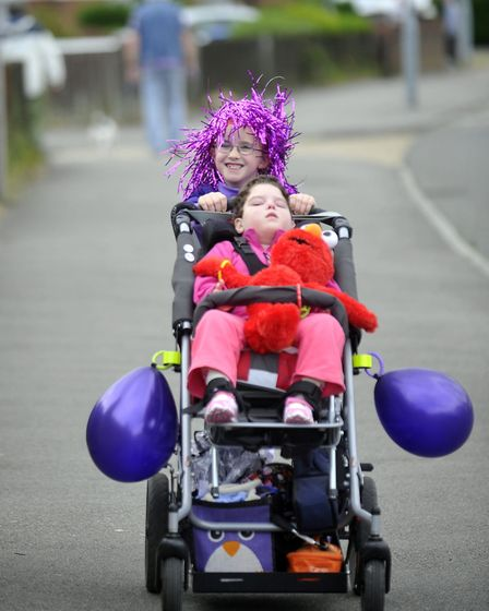 Back in 2013 Isobelle walked five miles to the Ipswich Hospital to mark her sister Skylas fifth bir