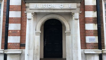 Bit of an unfortunate state, in terms of the signage honouring Dr George Sampson Elliston. Picture: