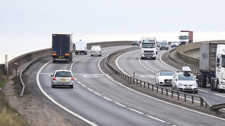 Could windbreaks be installed on the Orwell Bridge? Picture: GREGG BROWN