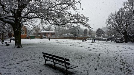 Snow in Suffolk. Picture: ROBIN LOWE