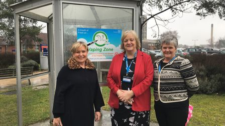 From left, Sheila Boyle, head of health and wellbeing at Colchester Hospital; Clare Edmondson, direc