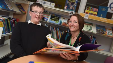 Josh Chenery and Claire Brickley at Stone Lodge Academy, which has gained a good Ofsted rating. Pict