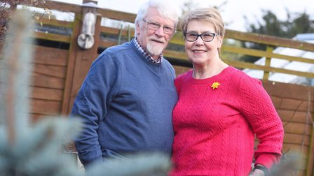 Jeff Willmot with wife Glenda. Picture: GREGG BROWN