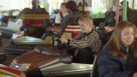 The dodgems proved a popular attraction