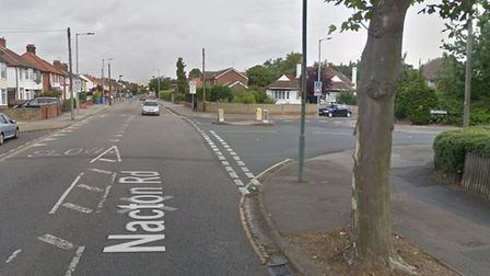 The collision happened on Nacton Road, close to Tesco Express. Picture: GOOGLEMAPS