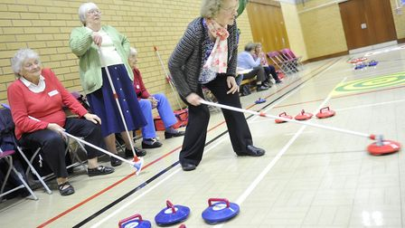Contestants from different ActivIpswich clubs compete in the semi-finals of the ActivLives Kurling C