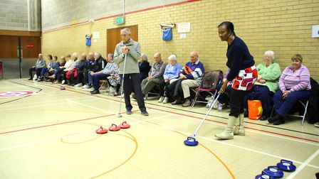 The new age kurling competition at Gainsborough Sports Centre in Ipswich, run by the ActivIpswich pr
