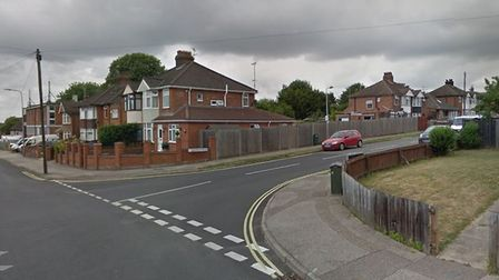 The accident happened at the junction between Ashcroft Road and Highfield Road, Ipswich. Picture: GO