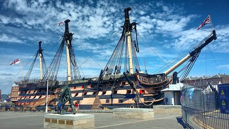 Designed by Sir Thomas Slade: HMS Victory preserved at Portsmouth. Picture: JAGUAR
