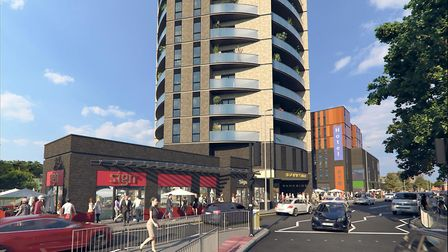 The vision for the site, opposite Cardinal Park, is being unveiled by developers. Picture: MOUNTFORD