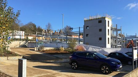 The tools were stolen from the building site at Crown Car Park, near Crown Pools. Picture: JASON NOB