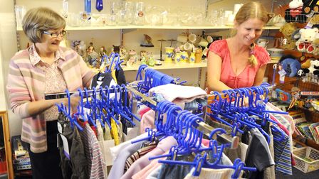Staff at the existing EACH store on Felixstowe Road. Picture: ALEX FAIRFULL