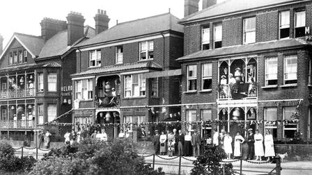 The Melrose Hotel, Sea Road, Felixstowe. A photograph from what appears to be the 1920s. Picture: DA