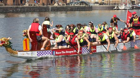 The Fresh Start Charity Dragon Boat Challenge will be held at Ipswich Waterfront. Picture: RACETHEDR