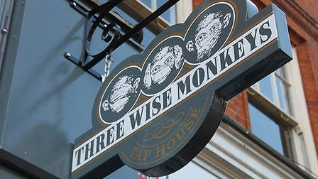 Three Wise Monkeys, Colchester sign