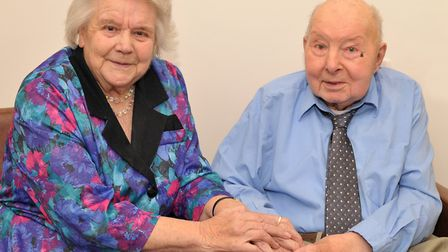 Barbara and Ted Newland are celebrating their 65th wedding anniversary. Picture: SARAH LUCY BROWN
