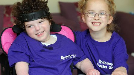 Skyla had a rare condition which left her blind and unable to eat. Isobelle, pictured here aged seve
