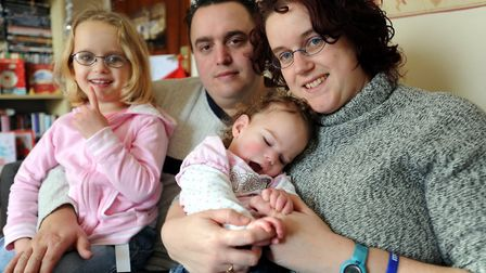 Skyla Creamer, who suffered brain damage after being born at 32 weeks, pictured in 2009 with mum Avr