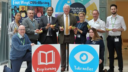 Launch of the �Five Ways to Wellbeing� campaign at Suffolk County Council. Picture: SARAH LUCY BROWN