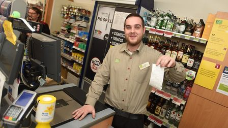 The Co-op could be abolishing till receipts for small purchases. Pictured is Zak Garnham. Picture: G