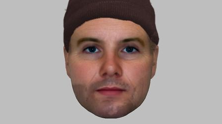 E-fit of suspect following robbery in Ipswich's Princes Street on Febraury 4, 2018. Picture: SUFFOLK