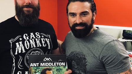 Ant Middleton (right) with Nik Bayliss. Picture: CONTRIBUTED