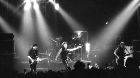 U2 performing at the Gaumont. Picture: RICHARD SNASDELL
